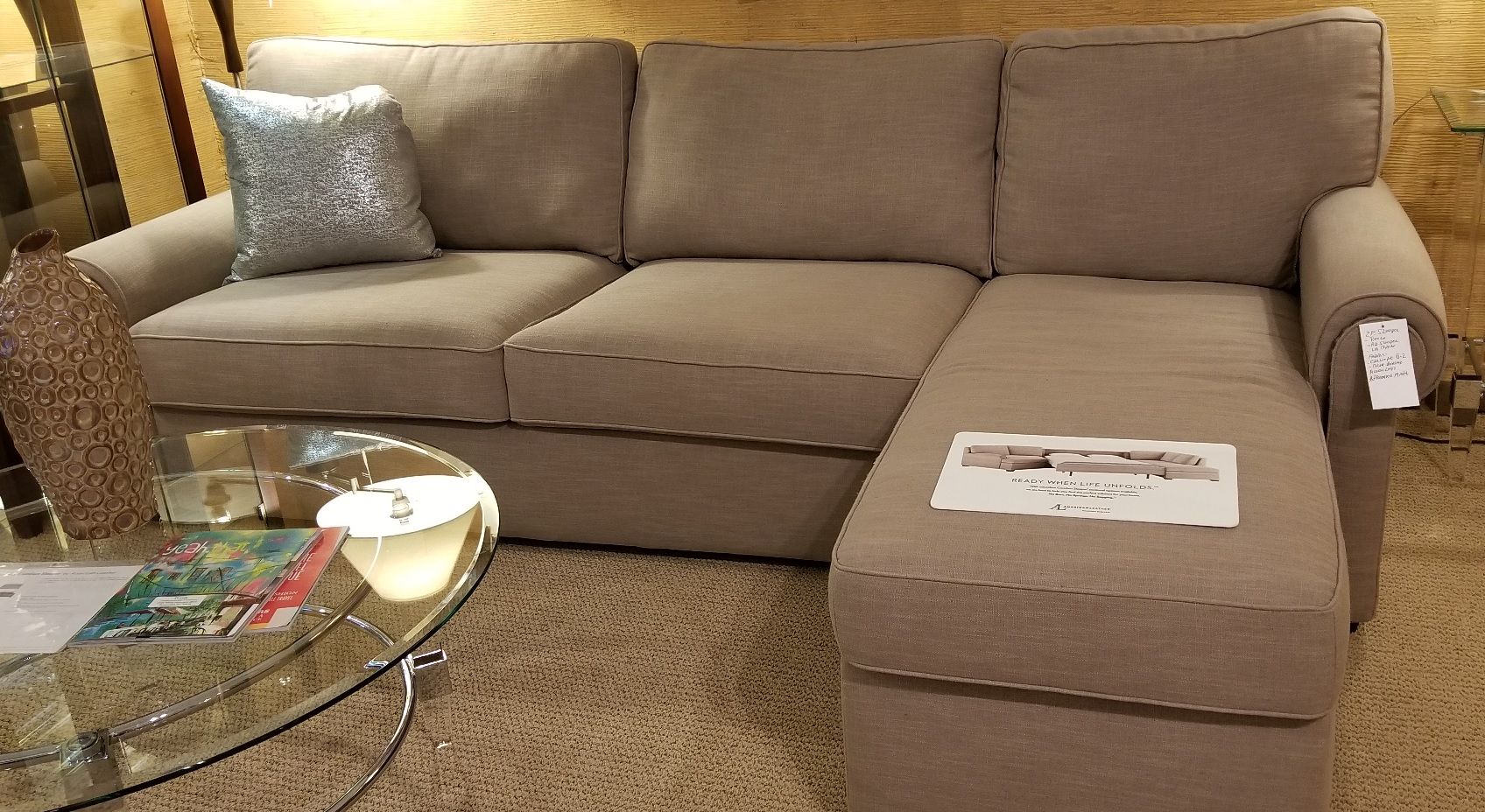 American Leather Sleeper Sectional